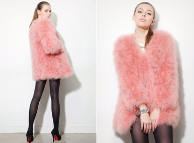 Fluffy ink Coat via Storets.com